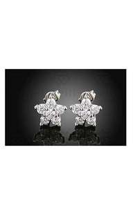 White Gold Plated Crystal Earring