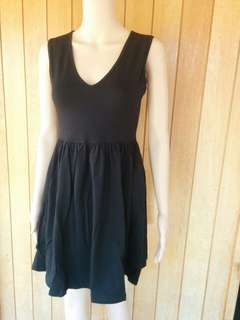Asos black size 8 new with tags jersey skater dress