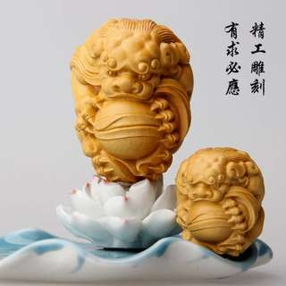 【禮贊精品文物館·貔貅·球】黃陽木木雕貔貅神獸文物經典開運招財擺設居家生活美化環境