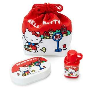 Hello Kitty 細索袋+小盒+memo 紙+印章套裝