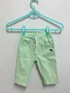 螢光綠七分褲