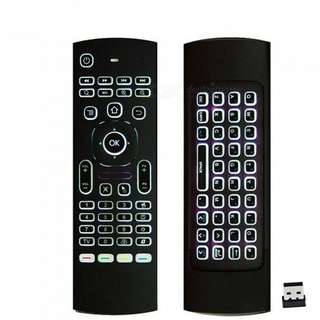 Mx3 air mouse remote  / Multifunctional / LED backlight  / Self collect / Postage