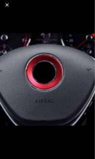 Steering wheel center decoration ring for Volkswagen