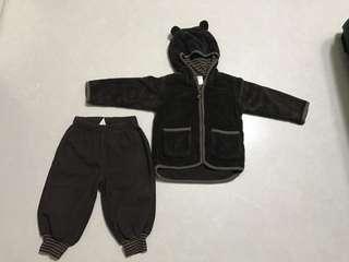 Winter Bear Suit (12 - 18 months) H&M