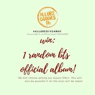 WIN A BTS ALBUM! HOW? READ THE DESCRIPTION!