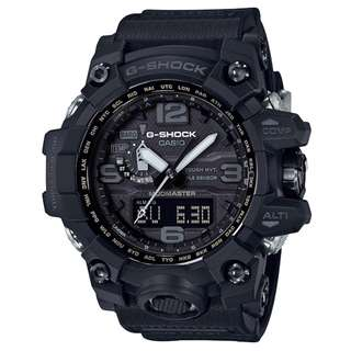 CASIO G-SHOCK MUDMASTER GWG-1000 Series GWG-1000-1A1 MULTI BAND 6 電波受信機能 TOUGH SOLAR 光動能 GSHOCK GWG1000 全黑色