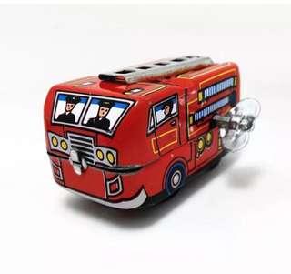 鐵皮玩具消防車 Vintage metal fire truck toy car
