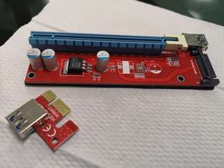 PCI-e Riser 1x to 16x (5pcs)