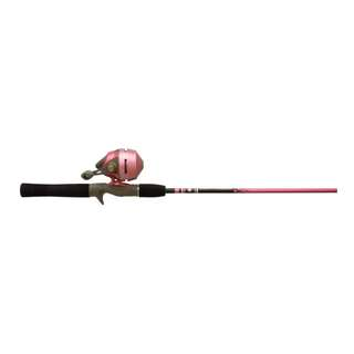 PRE-ORDER: Zebco 202SLSCLADY,10,NS5 202K/562M Ladies Pink Slingshot Spincast Fishing Rod and Reel Combo