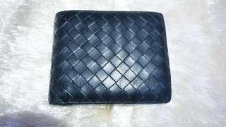 Authentic Bottega Veneta Nero Intrecciato Bifold Wallet