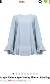 POPLOOK - CELEBRATION BLOUSE (BLUE FOG)