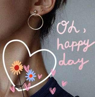 Buyer feedback 💕💕💕 gold/silver stud and hoop earrings