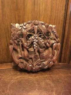 舊木雕刻掛件