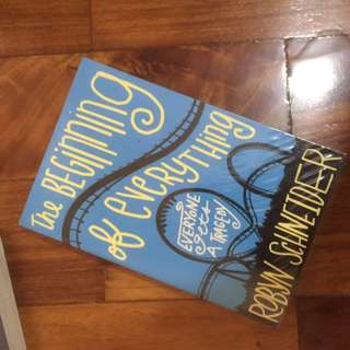 The beginning of everything paperback book by robert schneider #bookbazaar