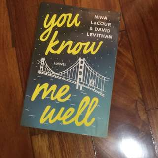 You Know Me Well By David Levithan Paperback Book #bookbazaar