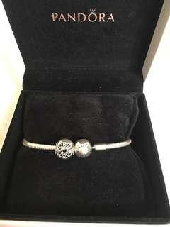 Pandora 17cm手鏈+珠charm