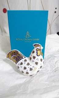 ROYAL CROWN DERBY 陶瓷公雞燙金擺設