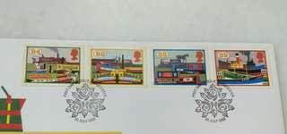 GB UK England Inland Waterways Stamps & Special Postmark #2