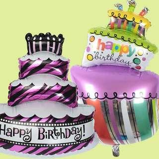 90cm Birthday Cake Foil Balloon