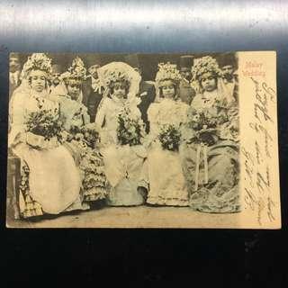Vintage 1904 Malay Wedding Postcard
