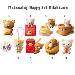 McDonalds Rilakkuma - Japan