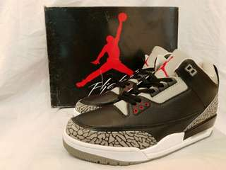 NIKE AIR JORDAN 3 BLACKCEMENT . Size 40 - 44