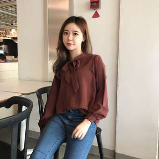 Merlot red long sleeves blouse /shirt
