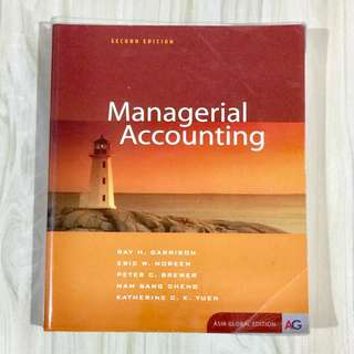 Managerial Accounting Textbook Second Edition