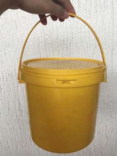 ‼️Repriced: Yellow Pail Container with cover