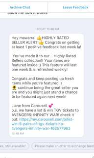 HIGHLY RATED SELLER FROM CAROUSELL 💞💝🎉🙆🏻♀️