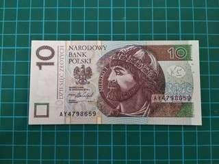 POLAND 10 Zloty 2016 UNC