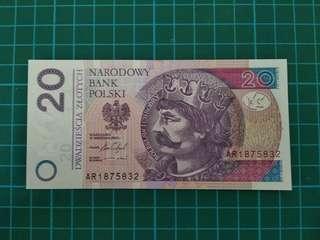 POLAND 20 Zloty 2016 UNC