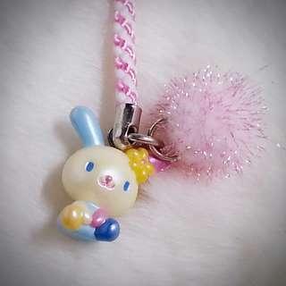 USAHANA 彩耳兔 U SA HA NA 404003   Sanrio Product 日本空運 可愛 公仔 吊飾 日本版 珍藏 紀念 小禮物 小吊飾 掛飾  U-Sa-Ha-Na(米花兔/US兔)(ウサハナ)