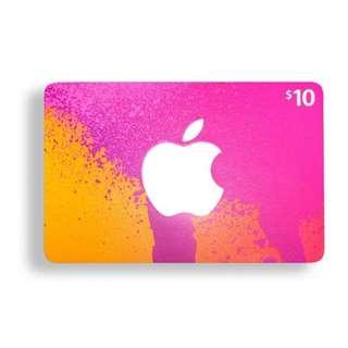 iTunes $ 10 USD