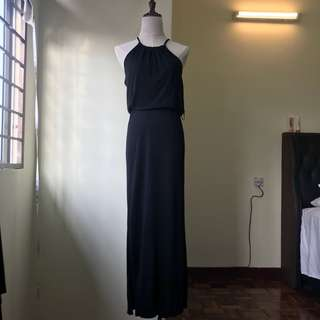 Cotton On Black maxi dress with slits