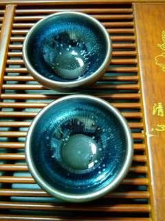 A pair of tianmu tea cup
