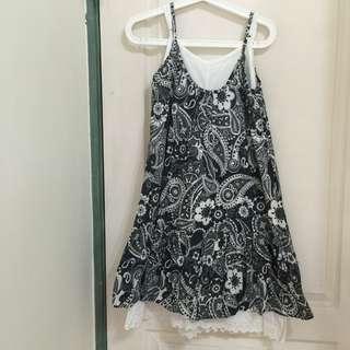 🚚 圖騰兩件式長裙