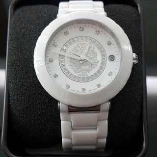 🚚 FOSSIL 龍的傳人限量陶瓷錶*時尚個性單品‧鑽石閃耀質感 中性錶