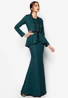 Arian Peplum Dress by Jovian Mandagie Art Deco Collection