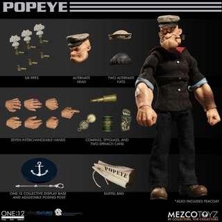 Mezco ONE:12 1/12 Popeye 大力水手卜派