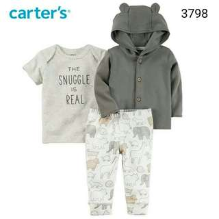 3in1 Carter's grey animal jacket