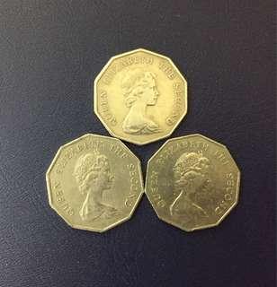 十角形五圓(1976,1978及1979年全套)