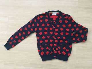 Red Hearts Cardigan