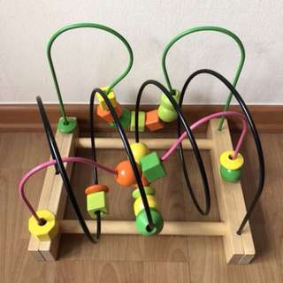 🤹🏻‍♀️IKEA🤹🏻‍♂️ Mula Wooden Bead Roller Coaster (Children/ Kids Toy)