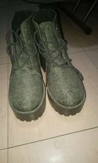 Divided Green Camouflage Boots