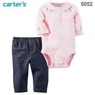 2in1 Carter's pink flower dan jegging