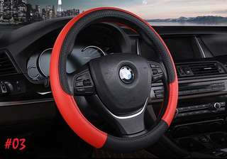 NEW Car Steering Wheel Cover! Bicast leather sporty designs!