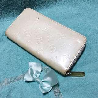 Louis Vuitton Lv Vernis Zippy Blanc Corail Long Wallet