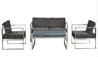 Imported:3 piece Iron sofa set