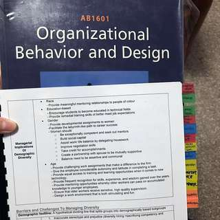 AB1601 Organizational Behavior and Design (OB) - NBS Y1 Group B